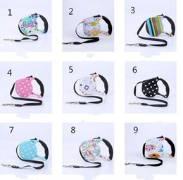 Wholesale new cat leash harness - New Dog Collars & Leashes Pet Supplies Dog Collar Leash Automatic Retractable Leash Harness Puppy Patrol Rope Walking Cat Traction