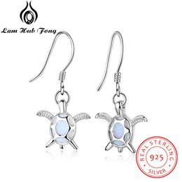 belle costume blu Sconti Belle orecchini in argento sterling con gioielli in argento 925 Orecchini in argento opale con perle in argento per Lamas (Lam Hub Fong)