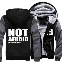толстовка eminem Скидка New Men's Jackets Eminem Not Afraid Printed Hooded Adult Male Warm Coats Zipper Hoodies Men Thicken Sweatshirts eminem clothing