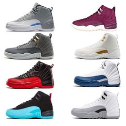 Wholesale gs sizes - 2018 Basketball Shoes Men Women Gs White Grey Masters sport 12s Zapatillas Sport Taxi Playoffs Sneaker size 7-13