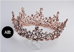 Wholesale Palace Glass - Baroque crown ornaments, bridal crown, luxurious atmosphere palace decorations accessories