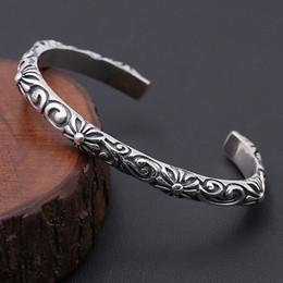 cerámica artesanal de arcilla para joyería. Rebajas Cruz de diseño personalizada hecha a mano en plata de ley 925 de plata antigua americana con pulsera de ratán grabada