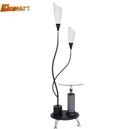 Wholesale Lighted Coffee Table - Led Coffee Table Modern Floor Lamps for Living Room Luminaria Black Lighting Iron Tripod Floor Lights Decor Standing Lamps