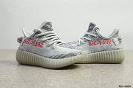 Wholesale A3 Red - Good Quality 2018 Kids Athletic Boost 350 V2 Blue Tint Zebra Cream White Butter Sneakers Boys Girls Fashion Children Sports Running Shoes