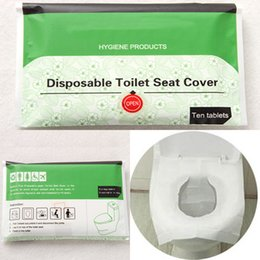 Wholesale mat camp - Disposable Toilet Seat Cover Travel Hotel Toilet Seat Covers Camping Festival Travel Loo wc mat Paper Seat WX9-442