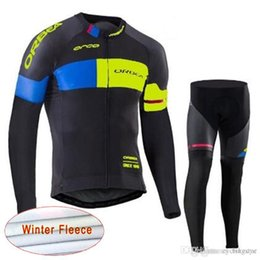 ORBEA DISCOVERY team Cycling Winter Thermal Fleece jersey (bib) pants sets  MTB bicycle long maillot NEW bike jersey kit C1301 ce58f1c85