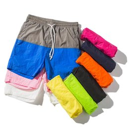 Wholesale beach sellers - 2018 Multi Colors Splicing Men's Speed Dry Shorts New Summer Beach Slacks Comfortable Lovers High Quality Fashion Beach Shorts Best Seller