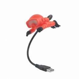 Lampara led naranja online-1 UNID Naranja Blanco Diver Lámpara USB Touch Portátil LED Decoración Interruptor de Botón Luz de Noche Regalo LED