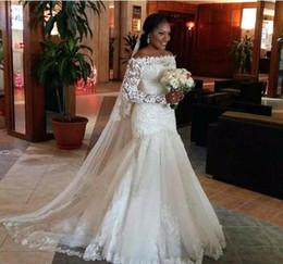 nigerianische afrikanische brautkleider Rabatt Afrikanischen nigerianischen Hochzeitskleid glamourösen Meerjungfrau lange Spitze Applikationen Garten Land Kirche Braut Brautkleid nach Maß plus Größe