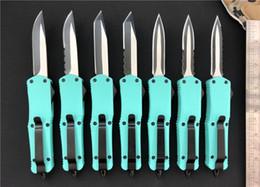 clipes de faca Desconto Teal Azul Pequeno A07 D / A facas auto Personalizado faca de aço inoxidável 440c dois tom lâmina mini Ferramenta tática com clipe de bolso