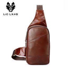 3e6da1026c03 горячие мужские сумки Скидка LIELANG 2017 новый горячий натуральная кожа  мужчины сумка мода повседневная сумки посыльного