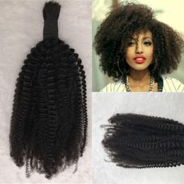 бразильские кудрявые курчавые волосы Скидка Kinky Curly Bulk Человеческие волосы для плетения Бразильские волосы Натуральный черный цвет волос для афро-американских G-EASY
