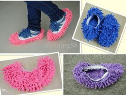 microfiber cleaning shoes Promo Codes - Wholesale-4 Pairs Of Creative Living Products Unpick Wash Microfiber Clean Shoe Cover Clean the ground