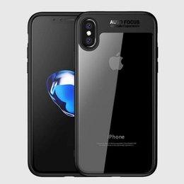 Wholesale Iphone Covers Free Shipping - Ultimate Hybrid Case For iPhone X iPhone 7 8 Plus 6 6S Colorful Soft TPU bumper & Crystal Clear Acrylic Back Skin Phone Cover Free Shipping