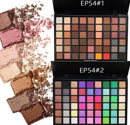 Wholesale Earth Warms - Popfeel 54 Colors EyeShadow Palette Warm Earth Color with Candy color Cosmetics Eye shadow free shipping