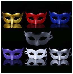 Deutschland Neue Kunststoff-Halbmaske Herren Maskerade Maske Kostüm Venezianische Masken Maskerade Masken Optional mehrfarbig (Rot, Weiß, Gold, Silber Versorgung