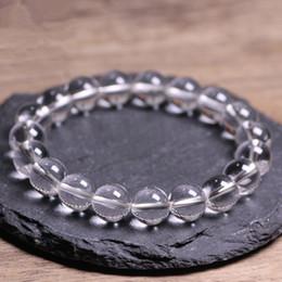 2019 perles de quartz claires Pierres naturelles Blanc Cristal Bracelet Clear Rock Quartz Perle Ronde Hommes Femmes Bracelet Guérison Énergie Cadeau Chanceux Bijoux perles de quartz claires pas cher