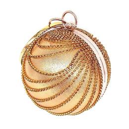2019 poignée de sac à bagues HCH-femme sac à main d'embrayage boule ronde strass anneau poignée sac à main sac de soirée (or) poignée de sac à bagues pas cher