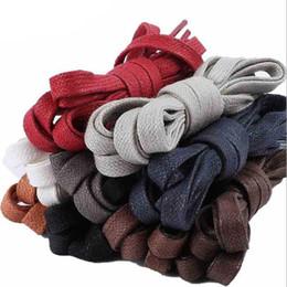 3c26499c658 90cm   35.4inches cordones de zapato planos de color sólido encerado  cordones de zapatos unisex para zapatos de cuero zapatillas de deporte