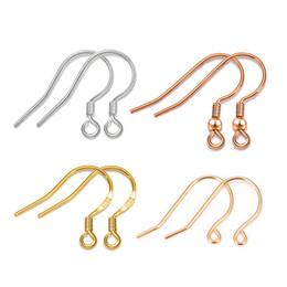 Rosa amarilla conjuntos de joyas online-Pendientes de plata esterlina para las mujeres Plata / Oro rosa / Oro amarillo Conjunto de pendientes de color Accesorios 5 pares / lote Joyería de moda