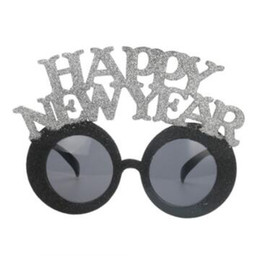 Happy New Year to weird glasses personality black sunglasses Funny props bar nightclub party gift decoration от