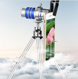 Wholesale hd 11 - 2018 Mini Metal Camera Tripod Table Bracket with 12 Times The Focal Length HD Telescope Ultra-far Perspective Mobile Phone Shooting