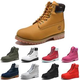 Botas de invierno ata hasta la piel online-Botas de nieve tacones clásicos de gamuza hombres mujeres botas de invierno piel cálida felpa botines de plantilla hombres mujeres zapatos zapatos con cordones calientes botas de diseñador