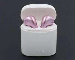 2019 único fone de ouvido bluetooth HBQ I7 Mini Fone de Ouvido Bluetooth Sem Fio Earbud Invisível Headset Com Microfone Fone de Ouvido Bluetooth Estéreo Sem Fio Para iphone X 8