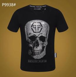 Мужчины лето новый продукт футболка мода с коротким рукавом футболка одежда повседневная череп Письмо печати хип-хоп новый стиль человек футболка Clothin #5801 от
