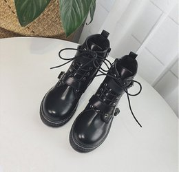 Wholesale Wild Woman - Martin female British style Korean students new autumn and winter 2018 women's boots wild cotton two single female boots