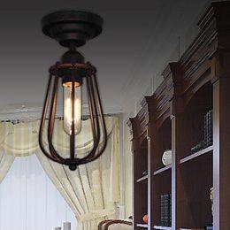 Wholesale Edison Style Ceiling Lights - Loft Retro Style Edison Industrial Lamp Vintage Ceiling Light Indoor Home Lighting Fixtures Luminarias Para Sala