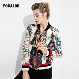 Wholesale Embellished Jackets - 2017 Baseball Embellished Casaco Feminino Basic Bomber Jacket Women Female Outerwear Coats Autumn Embroidered Boyfriend
