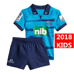 c705979fd 2018 2019 Newest blues home rugby Jerseys kids NRL National Rugby League  shirt nrl jersey New Zealand Club blues child kit shirts