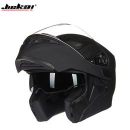 Canada Livraison gratuite! Coffre-fort Flip Up moto motocross moto casque avec intérieur pare-soleil JIEKAI-902 DOT autocollant S M L XL cheap motocross stickers Offre
