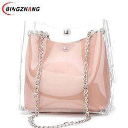 Дешевые сумки высокого качества онлайн-Fashion Handbags  Transparent Women's Shoulder Messenger Bag Cheap High Quality Women Beach Bag Casual Shopping Bag L8-180