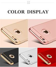 Apple i6 cubierta de metal online-Lujo 3 en 1 cubierta trasera para iphone x 6 6s 7 8 plus funda de moda costura nuevo para coque iphone 6 i6 cáscara del teléfono Funda