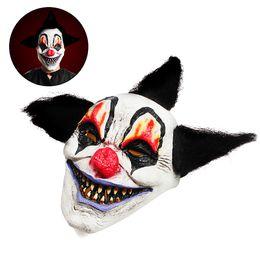 2019 masques de clown effrayants Halloween Sorcier Horreur Masque De Clown Masque Creepy Latex Halloween Costumes De Fête masques de clown effrayants pas cher