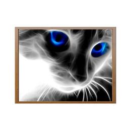 2019 peinture de diamant bleu Yeux bleus créatifs petit chat noir diamant peinture plein diamant 5d diamant bricolage peinture décoration promotion peinture de diamant bleu