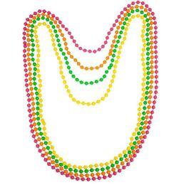 2019 pulseiras de fantasia Discoteca Neon 80 s 70 s Partido Dança Traje Beads longo Colar Pulseira Fancy Dress Hen Noite Os Prom Baile Adereços 4 em 1 presente pulseiras de fantasia barato
