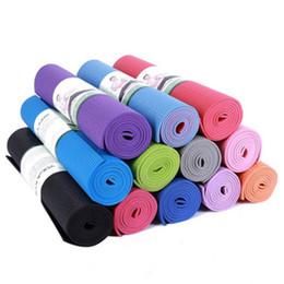 4mm PVC antiscivolo stuoie di yoga per fitness insipido marca pilates mat 4  colori palestra esercizio stuoie di sport pad con stuoia borsa yoga f01580a5e1b0