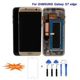 galassia lcd s6 Sconti Per Samsung Galaxy S7 edge 5.5 '' Super AMOLED LCDs Sostituzione Best Screen Display LCD Digitizer Assembly per G935 G935F Strumenti di riparazione
