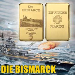 Canada Échantillon!!! Kriegsmarine La Marine Allemande La Seconde Guerre Mondiale La Kriegsmarine De La Mer Bismarck Médaille D'or Barre De Médaille cheap token Offre