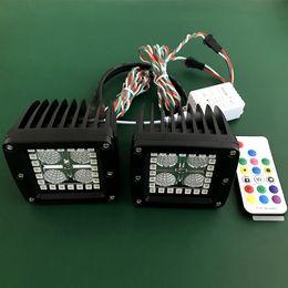 2019 6.5 lumières spot spot Fourniture d'usine encastré LED cubes oeil d'ange pour JEEP camion led pods avec anneau Bluetooth App Bluetooth
