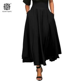 NORA TWIPS 2018 falda de moda de primavera con bolsillo de alta calidad de  algodón sólido hasta la tobillera falda vintage para mujer negro largo  rebajas ... 8262d07eeffb