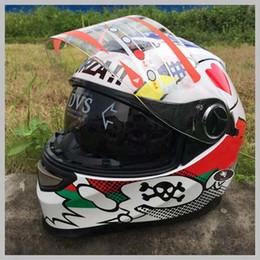 Wholesale White Motorcycle Helmet Full Face - High quality VR #46 Rossi Men MOTO GP Racing White Motorcycle Helmet capacete de moto helmets road motobike helmet casque moto 2