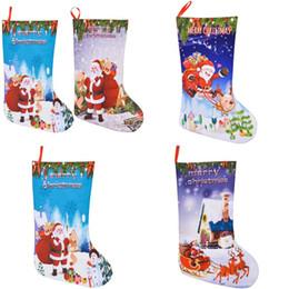 2019 sacos de feltro de natal 3D Impressão Merry Christmas Gift Bag Lareira Ornamento Pingente Papai Noel Meias de Feltro Fun Festivo Decorações Do Partido Sacos 6 8jp Ww sacos de feltro de natal barato