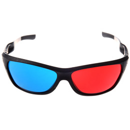 Wholesale 3d movie anaglyph - HOT-Red-blue   Cyan Anaglyph Simple style 3D Glasses 3D movie game (Extra Upgrade Style)