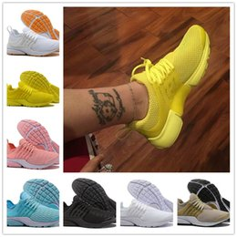 Wholesale cheap pink shoes for women - 2018 New Air Presto 5 Ultra BR QS Black White Yellow Red Grey Running Shoes for Cheap Women Men Prestos Essential Basketball Sneakers