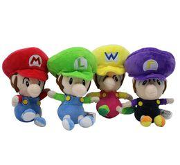 Wholesale mario brothers stuffed toys - 14cm Super Mario Bros Brothers Plush Doll 4 Colors cartoon Dolls Stuffed Animal Figure Toy EEA379 100PCS