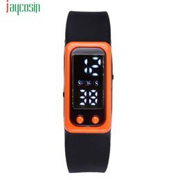 Contatore arancione online-JAYCOSIN Orange 3bar Sport Fitness Orologio Pedometro Run Step Walking Calorie Counter watch Recentemente LCD LCD Wristband SE0805
